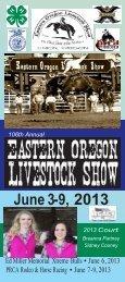 2013 Schedule - Eastern Oregon Livestock Show
