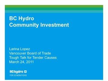 Larina Lopez, BC Hydro - Vancouver Board of Trade