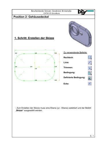 Position 2: Gehäusedeckel 13. Schritt