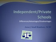 Private/Independent and Public Schools