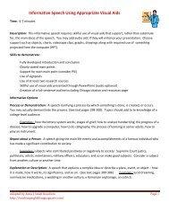 Informative Speech with Visual Aid - teachingenglishlanguagearts.com