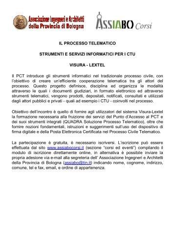 IL PROCESSO TELEMATICO STRUMENTI E SERVIZI ...