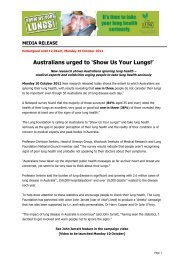 Show Us Your Lungs Media Release - Lung Foundation