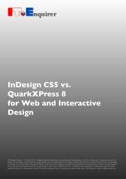 InDesign CS5 vs. QuarkXPress 8 for Web and ... - IT Enquirer