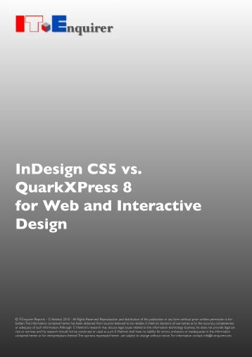 InDesign CS5 vs. QuarkXPress 8 for Web and ... - IT Enquirer