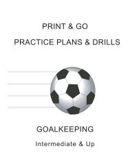Goalkeeping Practice Sessions
