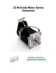 23 M-Grade Motor Series Datasheet - QuickSilver Controls, Inc.