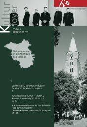 Kultursommer in Brandenburg (ab Seite 5) - Freie Volksbühne Berlin