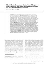 A Split-Mouth Randomized Clinical Trial of Single Crowns Retained ...