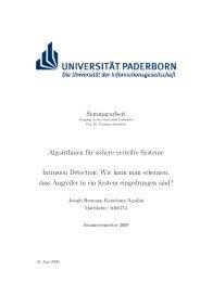 Intrusion Detection - Lehrstuhl für Effiziente Algorithmen