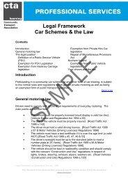 Legal Framework Car Schemes & the Law - Community Transport ...