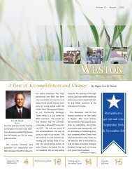 August 2002 - City of Weston