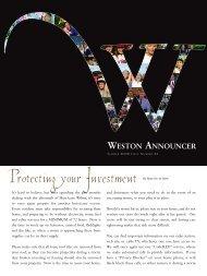 Summer 2006 - City of Weston