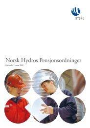 Norsk Hydros Pensjonsordninger