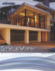 Style View Collection - Raynor Door