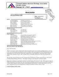 09 - Triangle Italian American Heritage Association