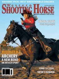 Western Shooting Horse Magazine March/April 2010 - AJ Horses