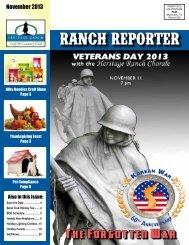 November 2013 - Heritage Ranch