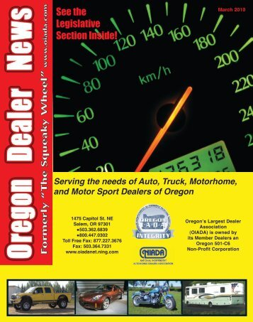 March 2010 - Oregon Independent Automobile Dealers Association