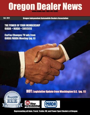 October 2011 - Oregon Independent Automobile Dealers Association