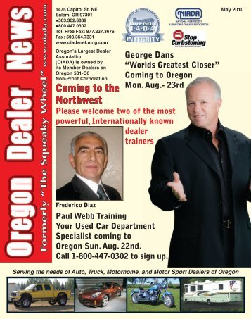 May 2010 - Oregon Independent Automobile Dealers Association
