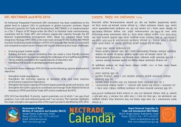 EIF Nepal NECTRADE Calendar 2070 B.S. - Ministry of Commerce ...