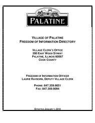 village of palatine freedom of information directory 200 east wood ...