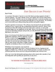 Introduction To Decorative Concrete - Renew Crete Systems, Inc