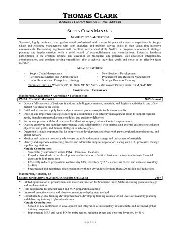 supply chain resumes chain manager resume top supply chain