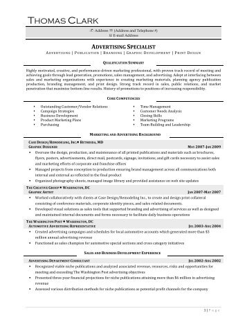 Advertising Specialist - Resume Prime