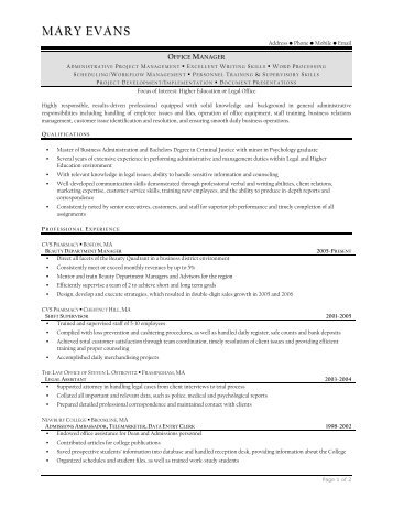 senior contract advisor resume prime