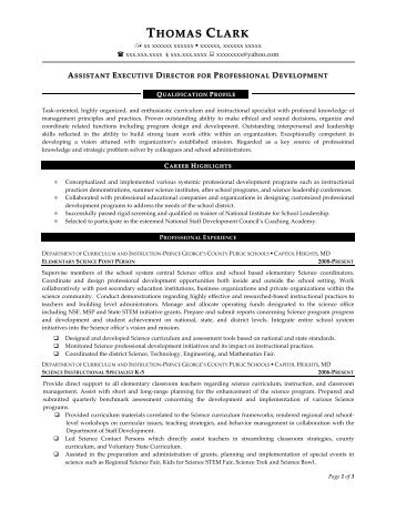 sample executive director resume - Director Resume Examples