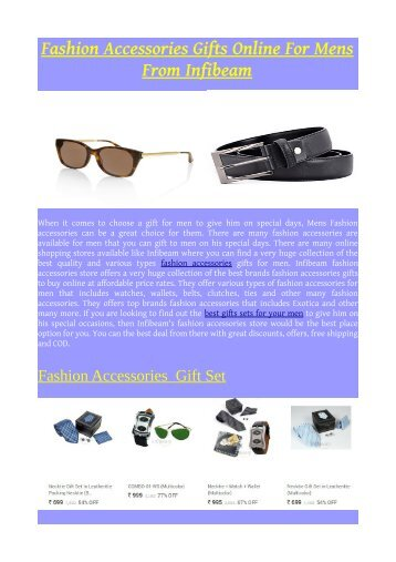 Fashion Accessories Gifts Online For Mens From Infibeam