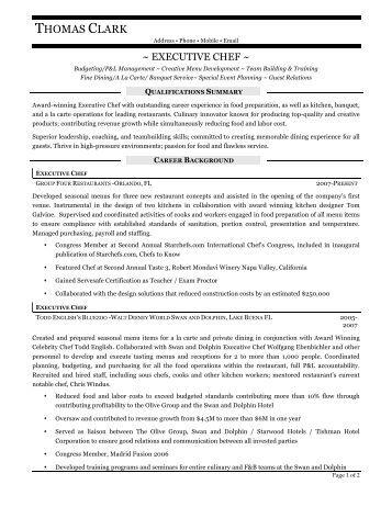 thomas clark resume prime - Resume Prime