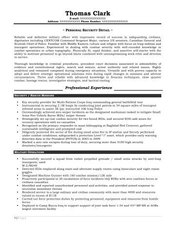 Resume Prime entry level copywriter resume sample before Personal Security Detail Resume Prime