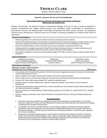 thomas clark resume prime