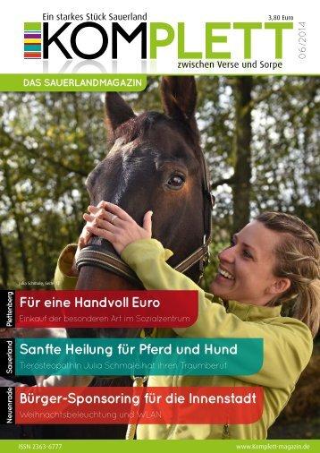 Komplett - Das Sauerlandmagazin Dezember 2014