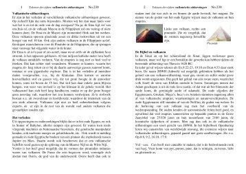 Tekenen der tijden: vulkanische uitbarstingen no. 239 - Pentahof.nl