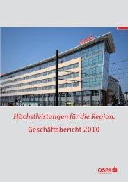 Jahresbilanz zum 31. Dezember 2010 - OstseeSparkasse  Rostock