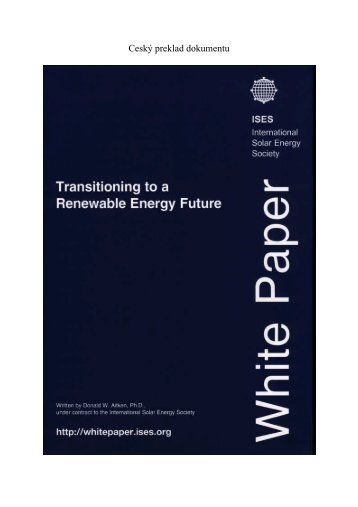 Ceský preklad dokumentu - ISES White Paper - ISES International ...