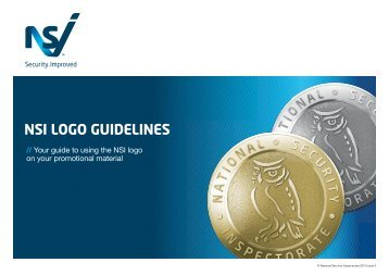 NSI LOGO GUIDELINES - National Security Inspectorate