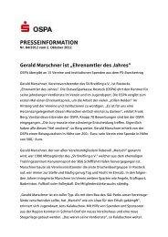 """Gerald Marschner ist """"Ehrenamtler des Jahres"""" - OstseeSparkasse ..."""