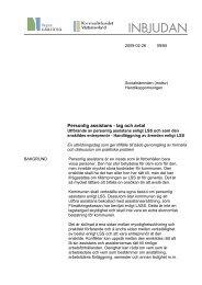 Personlig assistans - lag och avtal - Kommunförbundet Västernorrland