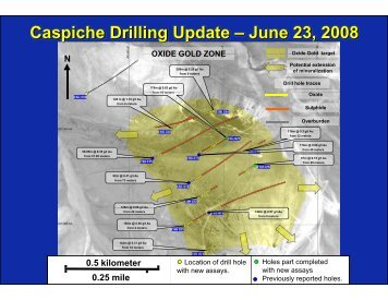 Caspiche Drilling Update – June 23, 2008 - Exeter Resource