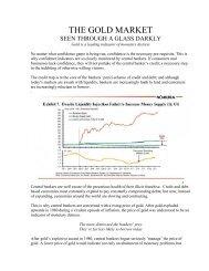 The Gold Market Seen Through a Glass Darkly - Darryl Schoon