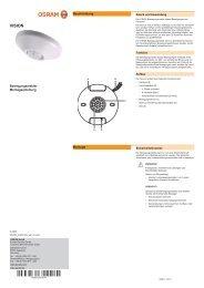 Montageanleitung OSRAM VISION Sensor