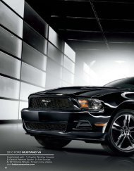 2010 FORD MUSTANG V6 - Genuine Ford Accessories