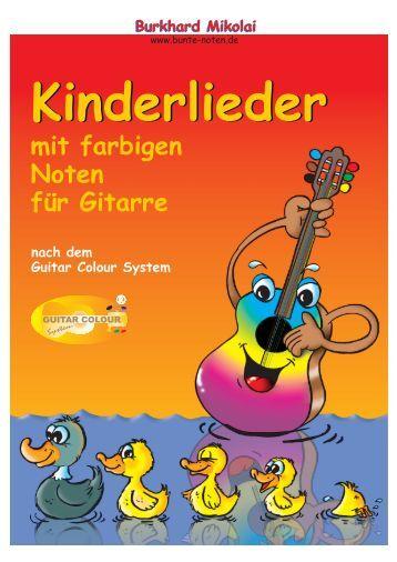 mit farbigen Noten für Gitarre - Guitar Colour System