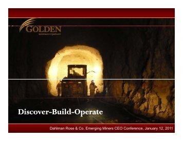Discover-Build-Operate p - Golden Minerals Company