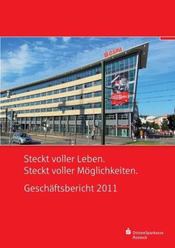 Jahresbilanz zum 31. Dezember 2011 - OstseeSparkasse Rostock